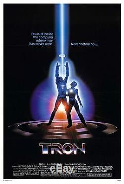 Tron (1982) Original Movie Poster Tri-folded