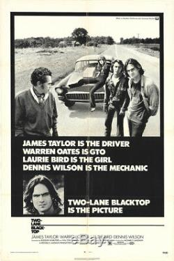 Two-Lane Blacktop 1971 27x41 Orig Movie Poster FFF-11683 Fine, Very Good