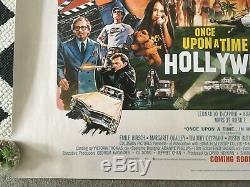 UK Quad ONCE UPON A TIME IN HOLLYWOOD Original Cinema Poster Tarantino U. K
