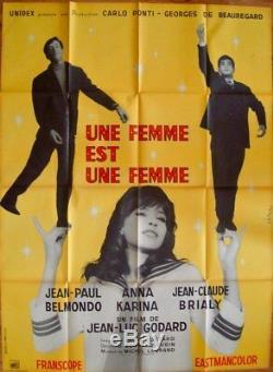 UNE FEMME EST UNE FEMME WOMAN IS A WOMAN French Grande movie poster 47x63 GODARD