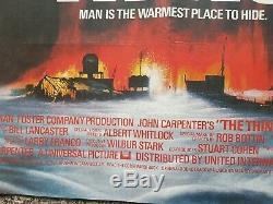 VERY RARE John Carpenter's The Thing original UK Cinema QUAD POSTER