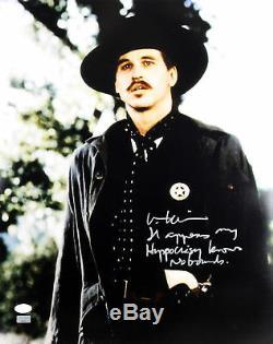 Val Kilmer Tombstone Hypocrisy Knows No Bounds Signed 16X20 Photo JSA