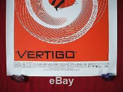 Vertigo 1958 Original Movie Poster 1sh Ds 1996r 70mm Dts Alfred Hitchcock Nm-m