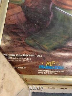 Vintage 1989 TEENAGE MUTANT NINJA TURTLES NOS Promo Movie POSTER TMNT 20 x 16