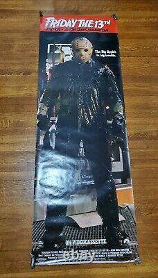 Vintage Friday The 13th Jason Takes Manhattan Promo Door Poster 1989 Paramount
