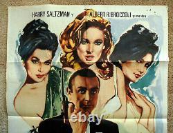 Vintage Original 1974 JAMES BOND 007 Dr No Movie Poster 1sh Film art