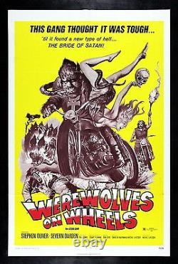 Werewolves On Wheels Werewolf Biker Motorcycle Movie Poster Horror 1971