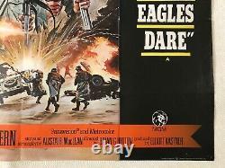 Where Eagles Dare 1968 Original Quad Poster Richard Burton Clint Eastwood