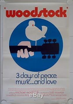 Woodstock Original Us One Sheet Film Poster Style C