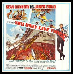 YOU ONLY LIVE TWICE CineMasterpieces 6 SIX SHEET 1967 MOVIE POSTER JAMES BOND
