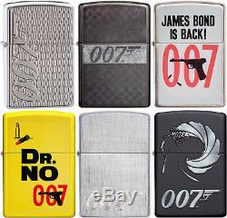 Zippo Original 007 James Bond 6 Lighter Poster Set Must See NEW L@@K