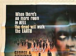 Zombies Dawn Of The Dead Original 1980 Quad Poster Chantrell Art George A Romero